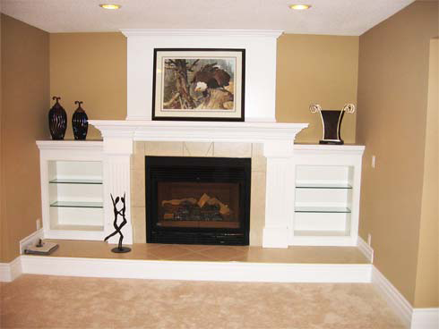Living rooms with no fireplace to hang